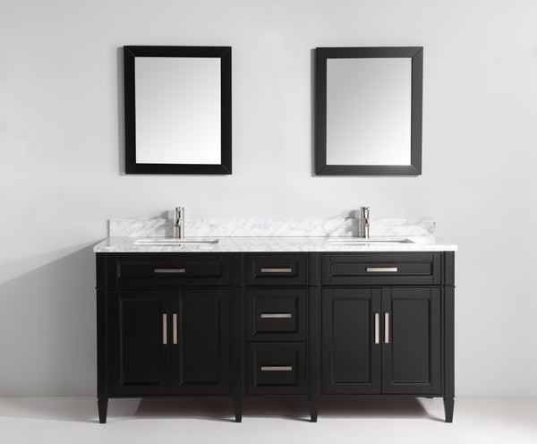 "VANITYART, 72"" DOUBLE SINKS, GREY, WHITE, ESPRESSO - 2072"