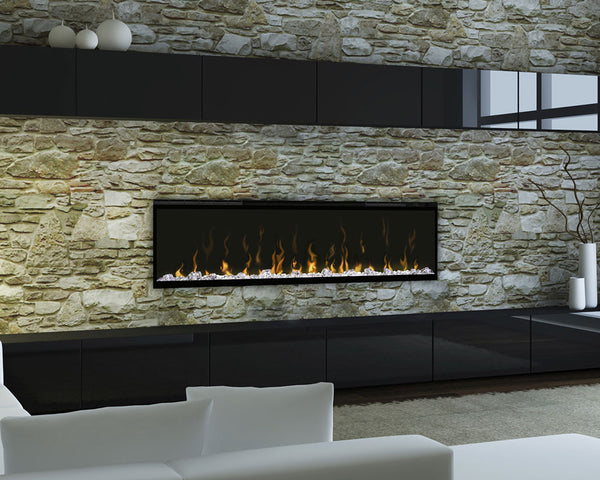 FIREPLACE- DIMPLEX - XLF50 - Electric Fireplace, 5118/8530 BTU Capacity, Heating Area: 1000 sqft, 120/240 volt, 12.5/10.4 amp, Wattage Rating: 1500/2500 watt,