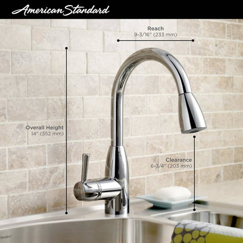 American Standard - Handle Pull Down High-Arc Kitchen Faucet