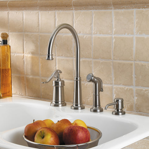 Pfister - Ashfield  1-Handle Kitchen Faucet With Side Spray & Soap Dispenser