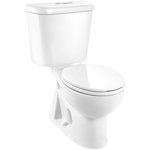 "CAROMA - TOILET - Sydney Smart II Dual Flush Elongated Toilet - 16.5"" Accessible Height, White"
