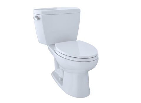 TOTO, Drake 1.28 GPF Elongated Two-Piece toilet with Right-Hand Trip Lever