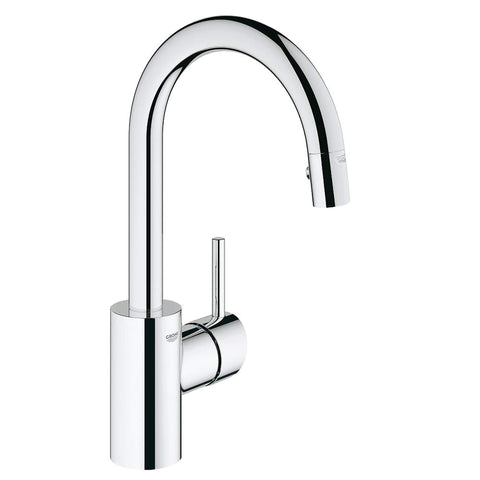 Grohe -   Concetto™ Single-Handle Pull Down Dual Spray Kitchen Faucet