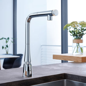 Grohe - Ladylux, SmartControl Pull-Out Single Spray Kitchen Faucet