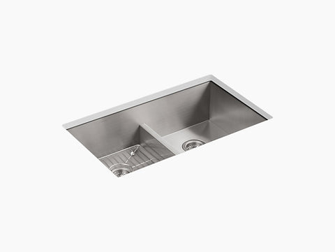 Kohler - Undermount Double-Equal Bowl Kitchen Sink With Single Faucet Hole