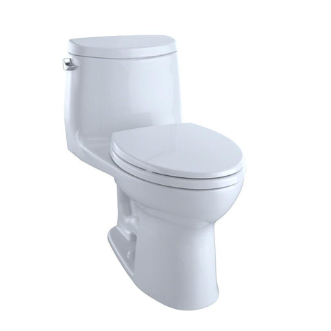 TOTO MS604114CEFG#01 ULTRAMAX® II ONE-PIECE ELONGATED 1.28 GPF UNIVERSAL HEIGHT TOILET WITH CEFIONTECT™ - COTTON WHITE