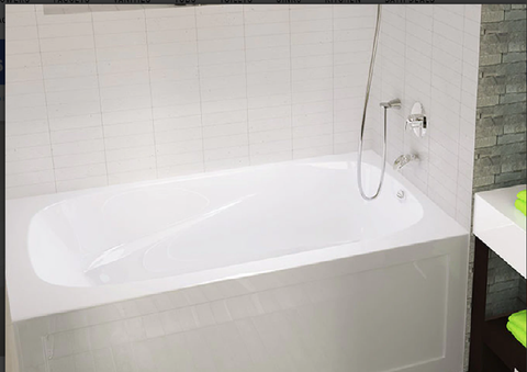 Mirolin Phoenix Soaker Tub With Integral Front Skirted,