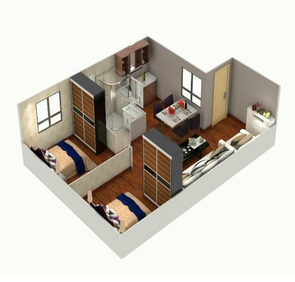 Modular Home, PF1, 2 Bedrooms