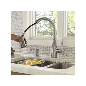 Pfister - Pasadena  1-Handle Pull-Down Kitchen Faucet With Soap Dispenser
