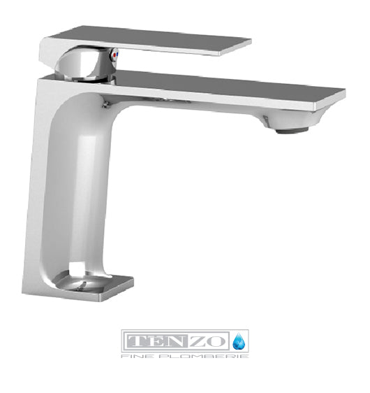 TENZO - Slik single hole lavatory faucet chrome with pop-up drain with overflow
