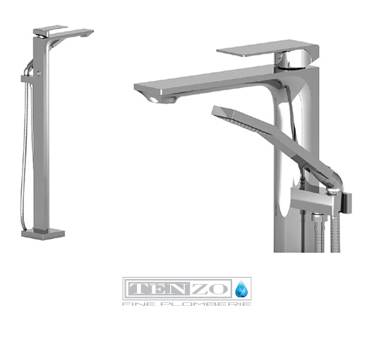 TENZO - Floor mount tub filler - Chrome Sl51