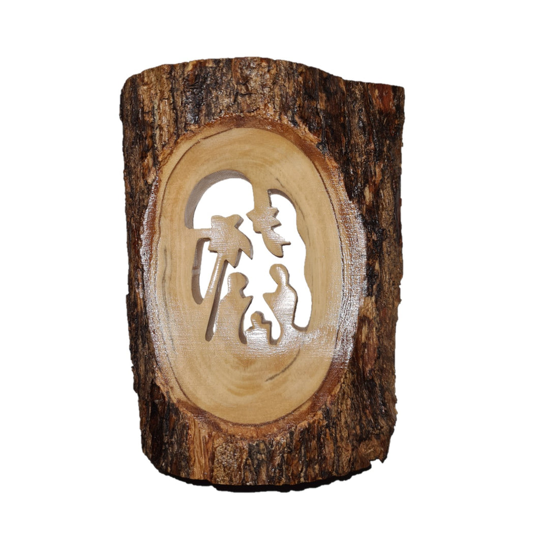 Nativity Cut Out With Palm Tree