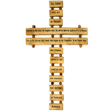 Load image into Gallery viewer, Hanging Lord's Prayer Cross - Medium