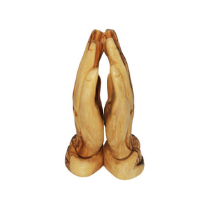 Hand carved olive wood praying hands made in Bethlehem