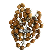 Load image into Gallery viewer, Wooden Rosary With Soil From The Holy Land