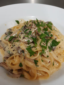 Tagliatelle with creamy Marsala mushrooms - PHONE TO ORDER