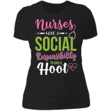 Socially Responsible Pink & Green Ladies' Boyfriend T-Shirt