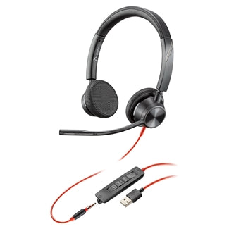Poly Blackwire 3325 Headset, USB-A, 3.5mm