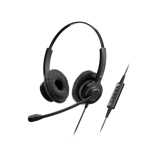 klipxtreme VoxPro-S Stereo Headset w/Volume Control Boom Mic USB