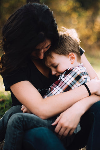 parent and child talking through back to school worries