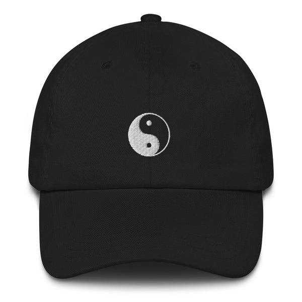 Black Yin and Yang Cap