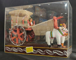 Kondapally Bullock Cart (Acrylic Box) Big