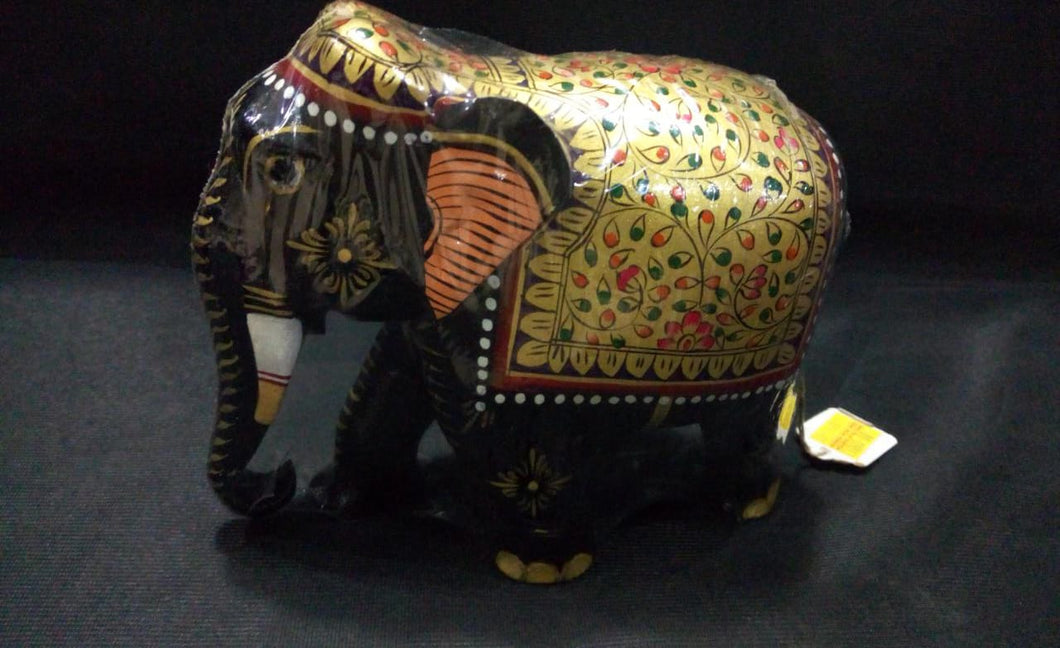 White Wood Elephant (Painted) - 5in