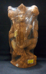 White Wood Hanuman 10in