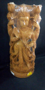 White Wood Lakshmi Devi 12in
