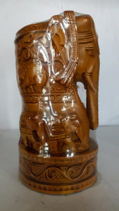 Sandal Wood - Elephant (with Child) 5in