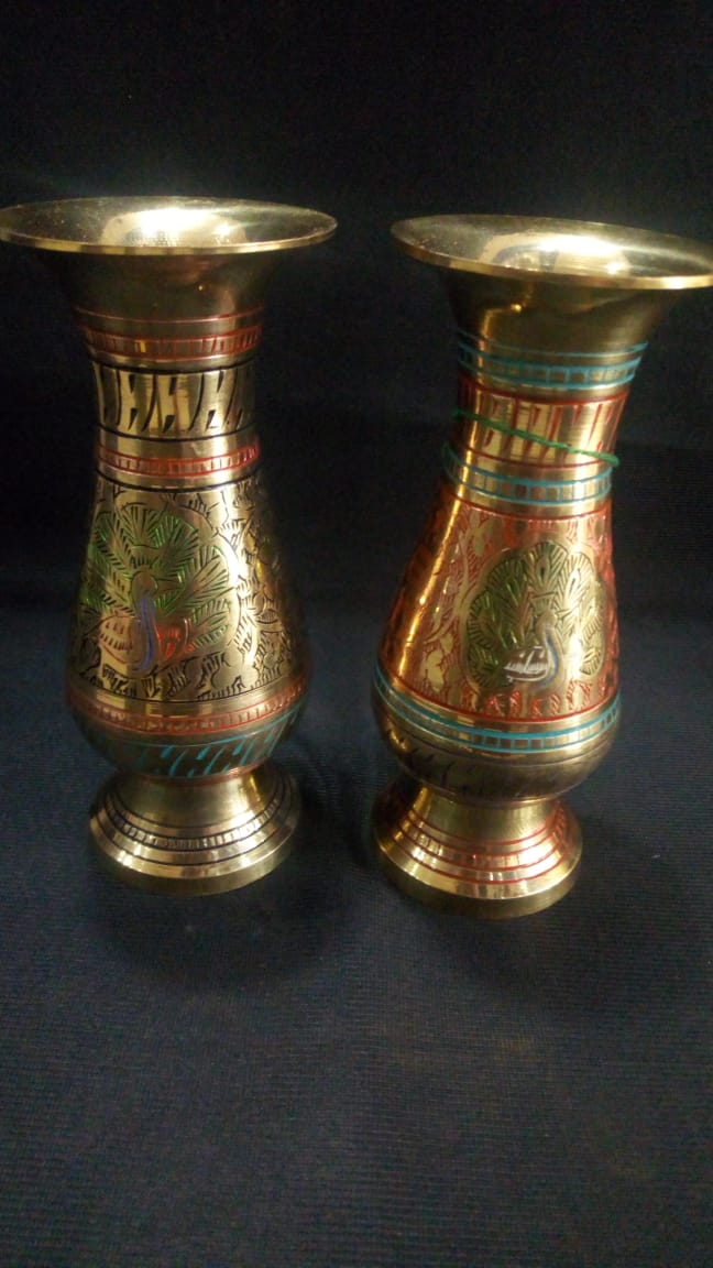 Moradabad Brass - Flower Vase Small (each)