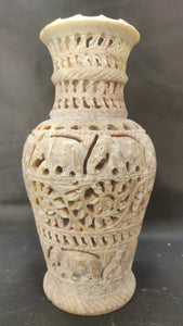 Stone Carving - Flower Vase 8in