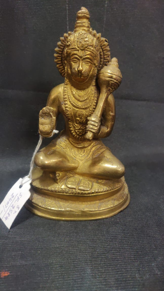 Brass Hanuman 5in