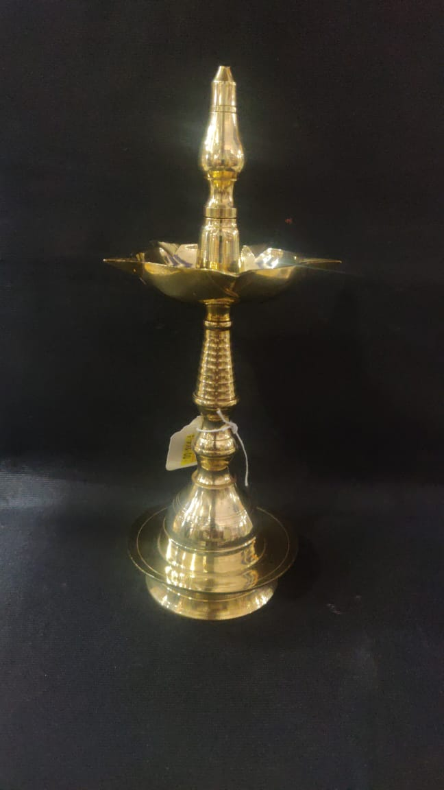Brass Lamp 8in