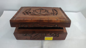 Saharanpur Wood Carving Box 7x5in