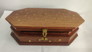Saharanpur Wood Carving Box 10x6in
