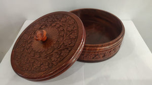Saharanpur Wood Carving Box 8x3in