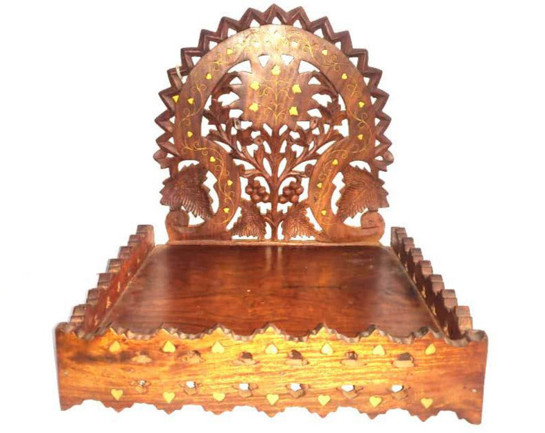 Saharanpur Wood Carving Wall Mounted Stand