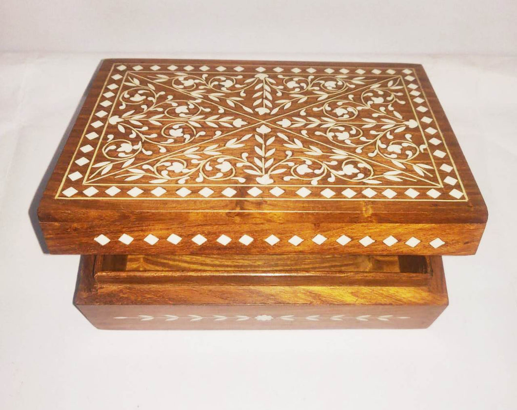 Wooden Box (Inlay Work) 7x3in