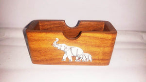 Wooden Card Holder (Inlay Work)