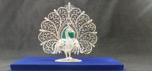 Silver Filigree Peacock Big