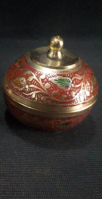 Moradabad Brass - Kum Kum Box (each)