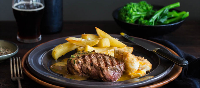Beef Rib-Eye Steak with Duck Fat Chips