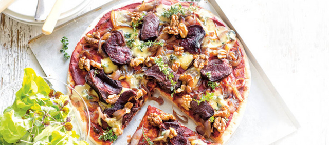 Blue Cheese and Walnut Venison Pizza