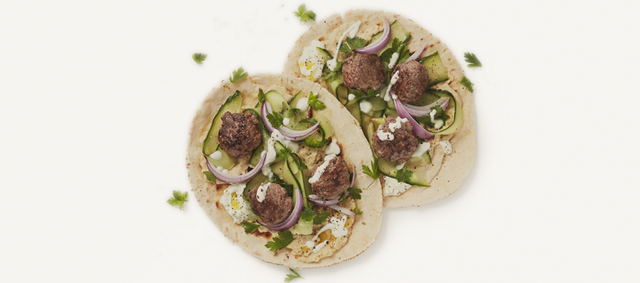 Lamb Kofta with Flatbreads