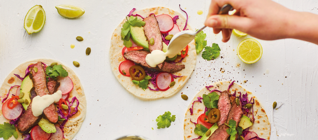 Lamb Steak Tacos with Slaw