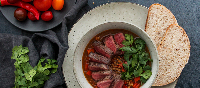 Moroccan-inspired Venison and Lentil Stew