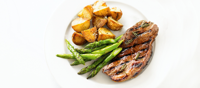 Sake-Marinated New York Strip Steak