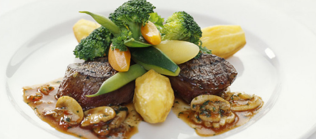 Venison Medallions with Chasseur Sauce