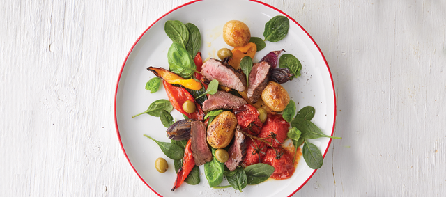 Venison with Mediterranean-style Tomatoes